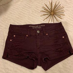 Like New American Eagle Jean Shorts Purple Size 4